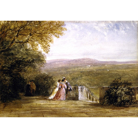 A Terrace, with Figures, Haddon Hall