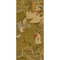 Making the Bride's Gown (anonymous copy after Tang Yin)