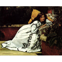 A Girl in an Armchair