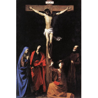 Christ on the Cross with the Virgin, Mary Magdalene, St. John and St. Francis of Paola