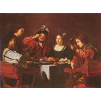 Company at the table