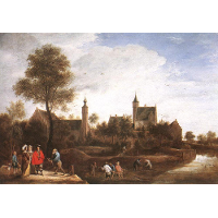 A View of Het Sterckshof near Antwerp