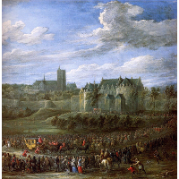 Arrival of Christina of Sweden in Brussel