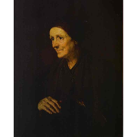 Old Woman with a Hen (Portrait of the Artist`s Wife)