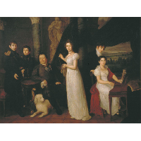 Family portrait of counts Morkovs