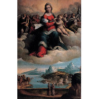 Madonna with the Child in Glory and Holy Ones