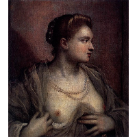 Portrait of a Woman Revealing Her Breasts