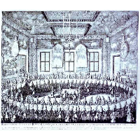 The Wedding Feast of Peter I and Catherine in the Winter Palace of Peter I in St. Petersburg on February 19, 1712