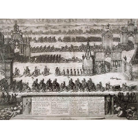 The Ceremonial Entry of the Russian Troops to Moscow on December 21, 1709 after their Victory in the Battle of Poltava