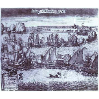 The Bringing of 4 Swedish Frigates in St. Petersburg after the Victory in the Battle of Grengam September 8 1720