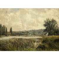 Landscape with a tributary of the Seine, near Paris