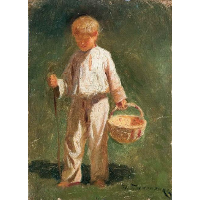 Boy with a basket