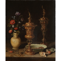 Still Life with Flowers and Gold Cups of Honor