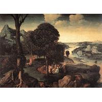 Landscape with St. John the Baptist Preaching