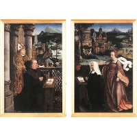 Donor with St. Nicholas and his Wife with St. Godelina