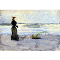 Edwardian woman on the Beach