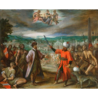 Allegory on the declaration of war before Constantinople