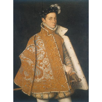 A portrait of a young Alessandro Farnese, the future Duke of Parma