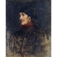 Old woman with a headscarf
