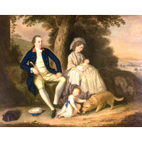 Charles Watson, Esq., and His Wife, Lady Mary, with Their Two Children, James and Anne in a Landscape