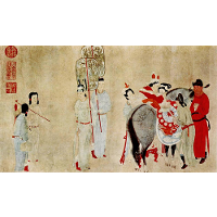 Yang Guifei Mounting a Horse