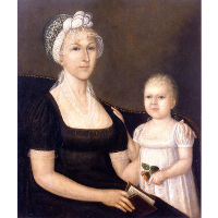 Mrs. Abraham White, Jr. and Daughter Rose