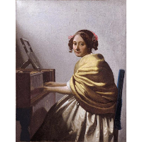 A young woman seated at the virginals (A young woman seated at the virginal)