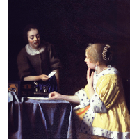 Mistress and Maid (Lady with Her Maidservant Holding a Letter )