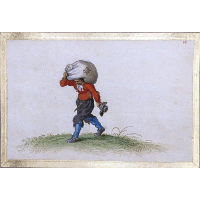 A Man Carrying a Sack