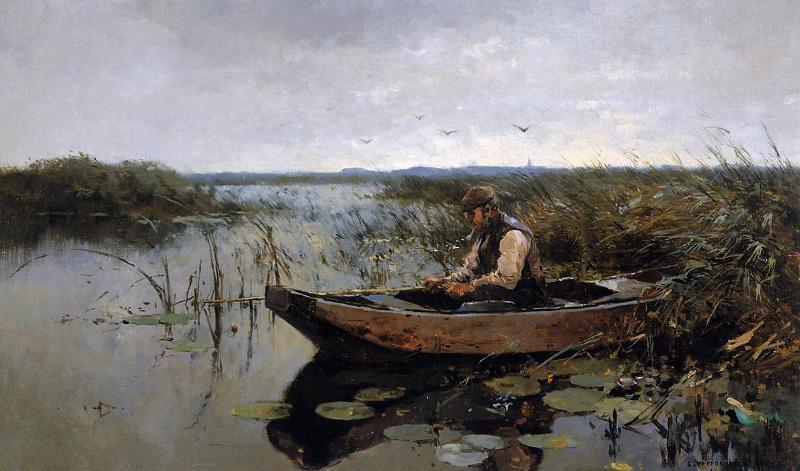 картина старый рыбак фото