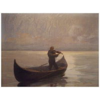 Violinist in a Boat
