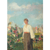 In the Garden with Flowers