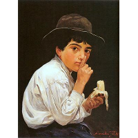 Boy with a banana