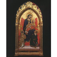 Gentile da Fabriano Madonna and Child, with Sts. Lawrence