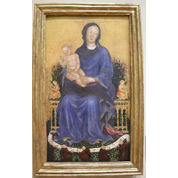 Enthroned Madonna with angels
