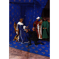 Charles V gives the sword of constable to Bertrand du Guesclin