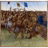 A re-imagination of Louis III and Carloman's 879 victory over the vikings