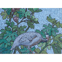 Mosaic - Dining hall room of the Sainte-Barbe library, Paris