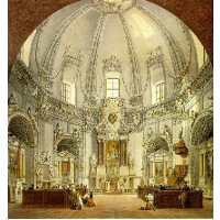 Interior of Trinitarian Church in Vilnius, Lithuania