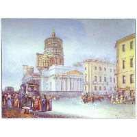 Departure of an Omnibus from St. Isaac's Square in St. Petersburg