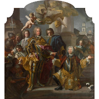 Gundaker Count Althann Handing over to the Emperor Charles VI (Charles III of Hungary) (1685-1740)