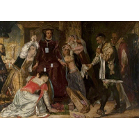 Mary, Queen of Scots, Receiving the Warrant for Her Execution