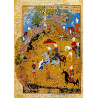 From the Khamsa of Nizami: The Old Woman complaining to Sultan Sanjar