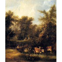 Cattle By A Stream