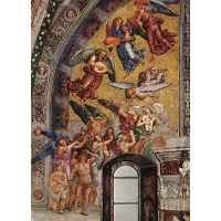 The Last Judgment (The left part of the composition - The Blessed Consigned to Paradise)