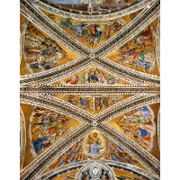 Ceiling Frescoes in the Chapel of San Brizio