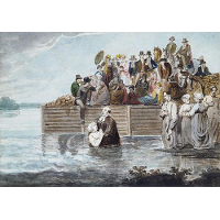 A Philadelphia Anabaptist Immersion during a Storm