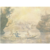 American Indians in the boat