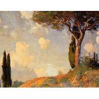 A Landscape Study at San Vigilio, Lake of Garda