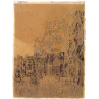 Dieppe, Study No. 2, Facade of Saint-Jacques Tower